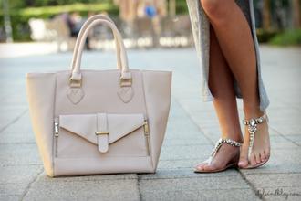 bag gold beige beige bag gold details shoulder bag hand bag