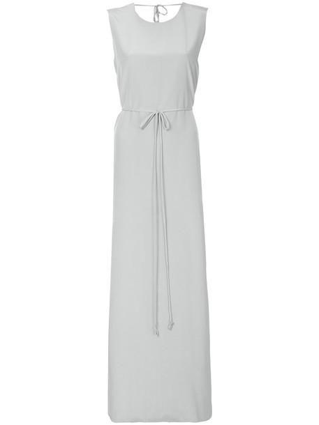 Kacey Devlin dress women silk grey