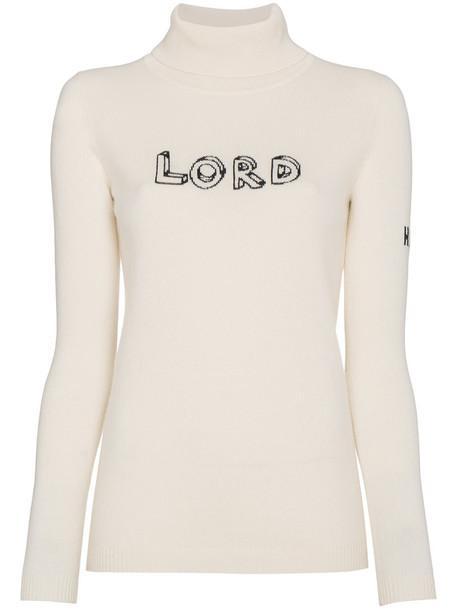 Bella Freud jumper long metallic women nude sweater