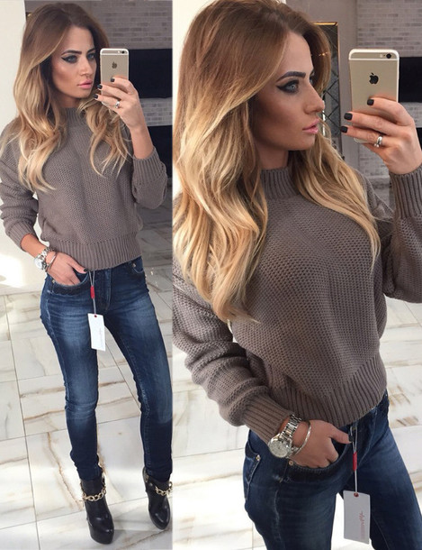Sweater: warm, warm sweater, fall outfits, winter outfits, girly ...