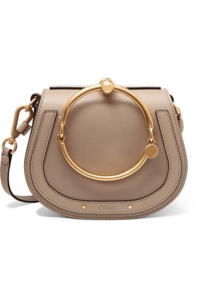 Chloé Chloé - Nile Bracelet Small Leather And Suede Shoulder Bag - Gray