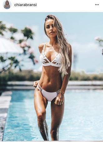 swimwear bikini white