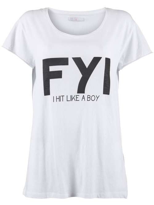 Nooit genoeg: T-shirts met opdruk - Girlscene