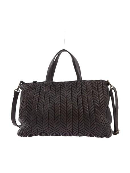 Majo bag leather bag leather chocolate brown