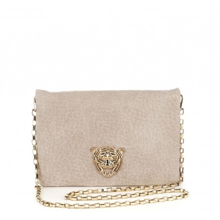 Sole Society - Cream - Tiger Medallion Clutchs - Taci