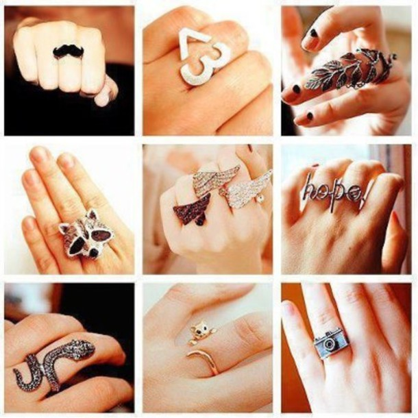 jewels jewelry ring ring hair accessory petits accessoir swag knuckle ring snake snake ring
