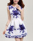 #368 printed blue and white sleeveless dress