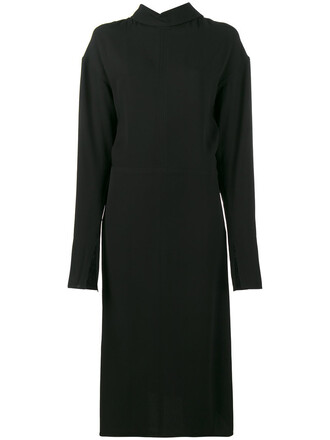 dress long sleeve dress long women black