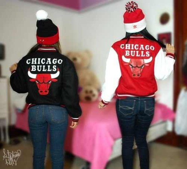 jacket beanie jeans chicago bulls