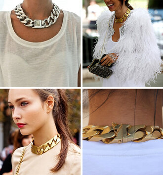 jewels necklace chain celine