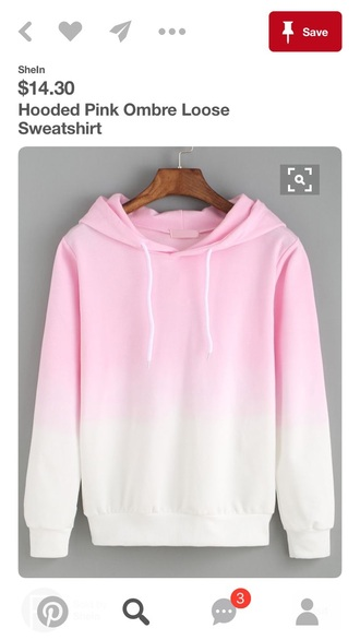 jacket hoodie pink ombre shirt