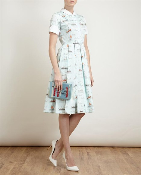 dress printed dress ship printed cotton dress coco pointed leather pumps pumps sentinels of the north pacific felt clutch clutch summer dress, beach dress, maxi dress, dropped waist, cotton dresss, cotton rib, knitwear bag shoes