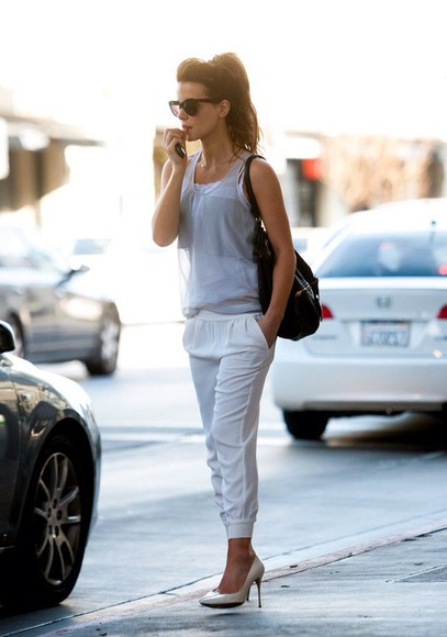 white pants large leggings