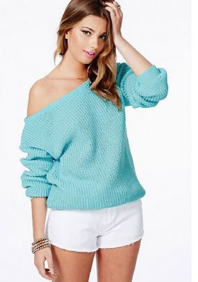 Basic Off-The-Shoulder Sweater
