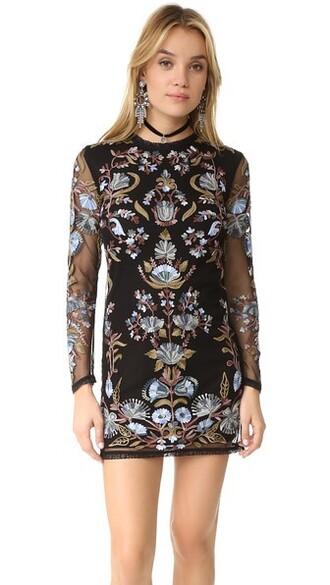 dress mini dress bodycon mini black