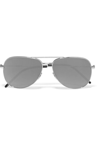 style sunglasses mirrored sunglasses silver