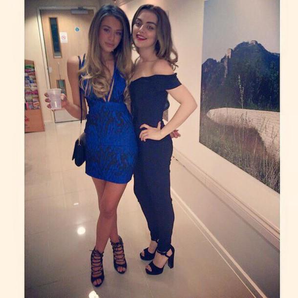 dress blue/black dress