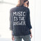 Music is the answer custom flannel (red/blue, blue, black, or red/black) - jac vanek
