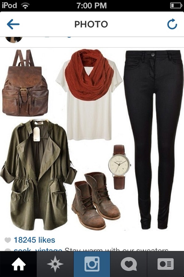 bag leather t-shirt jeans coat scarf shorts shoes hair accessory jewels jacket leather backpack army green jacket brown red white shut shirt pants leggings jeggings blouse army green fall outfits military style winter boots top leather boots khaki fashion fall style gloves tank top romper cardigan green khaki lovely now green jacket juffjs skirt
