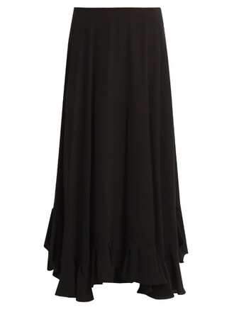 skirt midi skirt back midi satin black