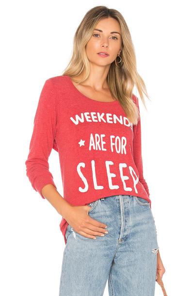 Chaser sweatshirt sleep red sweater