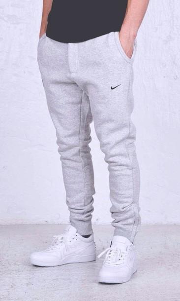 wholesale dealer a14c2 88945 pants mens grey sweatpants sweatpants joggers nike sweatpants menswear nike  joggers gray