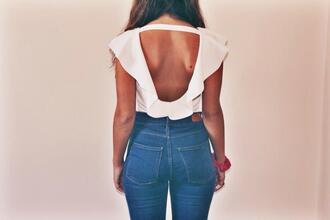 blouse white bodysuit top