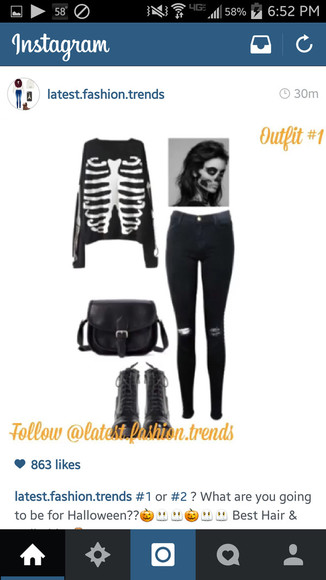 long sleeves skeleton skeleton shirt dark