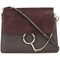 Chloé - faye shoulder bag - women - leather/suede - one size, brown, leather/suede