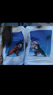 t-shirt,shirt,dragon ball z,matching set,matching couples,dbz,dragon ball,couple,couple shirts