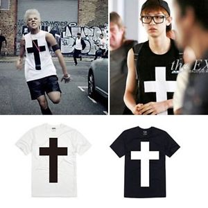 BIGBANG Gdragon Crooked M V Cross T Shirt Exo Chan Yeol Black White Color | eBay