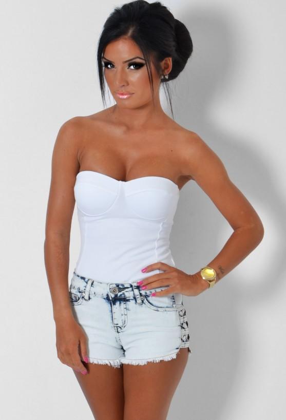 Corta Blue Acid Wash Denim Shorts | Pink Boutique