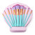 10pcs Makeup Brushes Set Shell Bag Eyeliner Eyeshadow Angle Shading Highlight Eyebrow Flat Brush