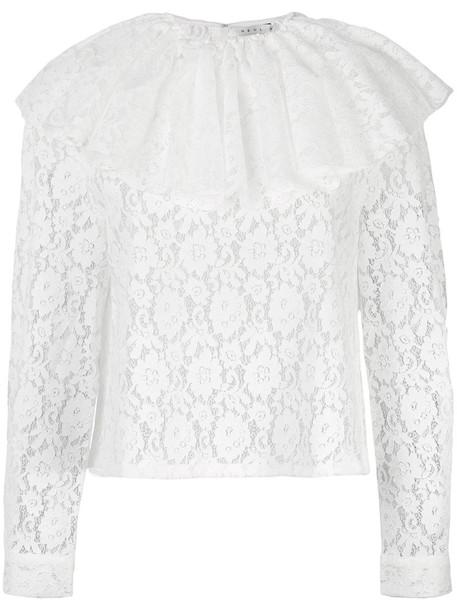Neul - lace blouse - women - Cotton/Polyester/Rayon - XS, White, Cotton/Polyester/Rayon
