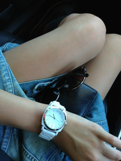jewels white with silver lining watch watch watch tumblr watch white silver tumblr