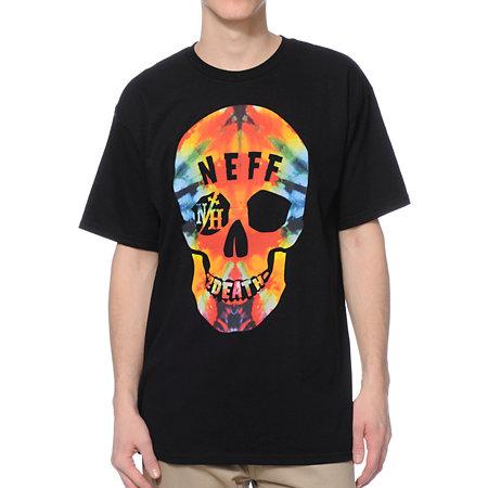 Neff tie dye death black tee shirt at zumiez : pdp