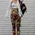 Retro Black Floral Trousers | Choies