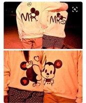 sweater,disney couples sweatshirts,mr and mrs sweatshirts,disney,disneyland,disneyworld,mickey mouse hoodies,minnie mouse