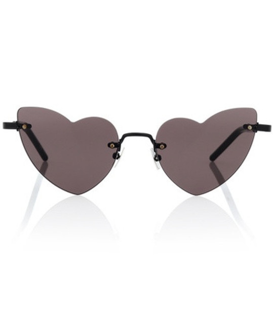 Saint Laurent New Wave Lou Lou 254 heart-frame sunglasses in black