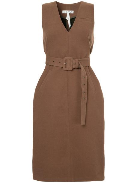 Liya vest women wool brown jacket