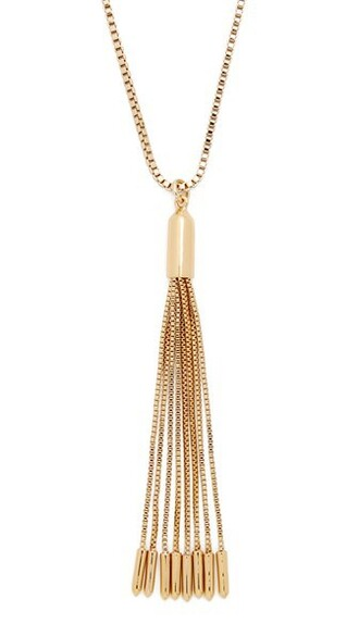 tassel necklace pendant gold jewels