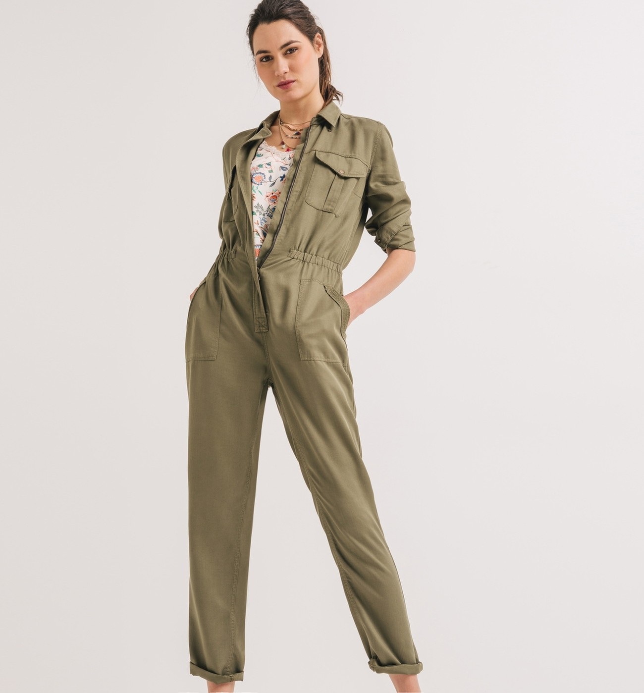 cheap for discount 59730 cf245 Overall - Khaki - Damen - Overalls / Jumpsuits - Promod