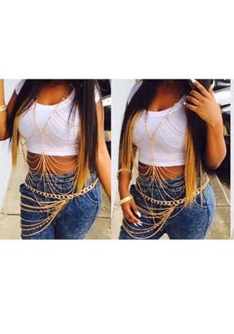 jewels baddie tay nlyss dope trill chains chain body chains body chain need exact gold silver dope wishlist