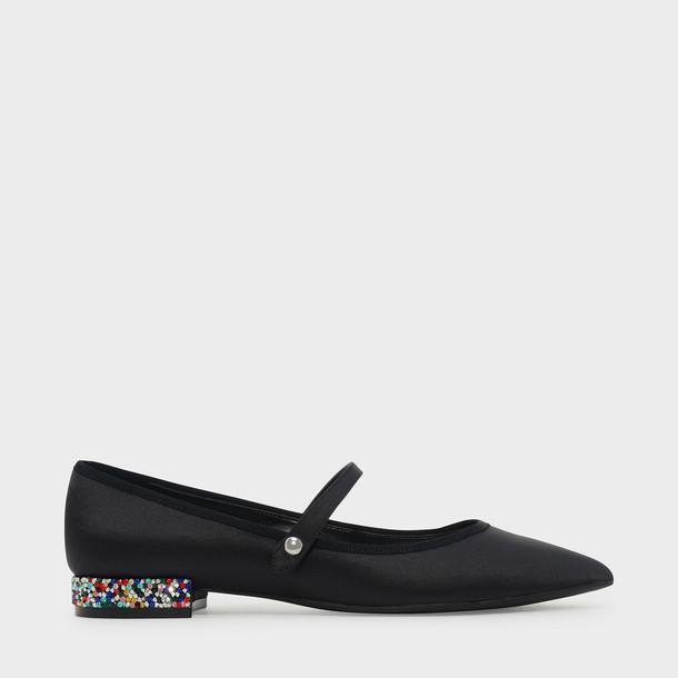 flats black shoes
