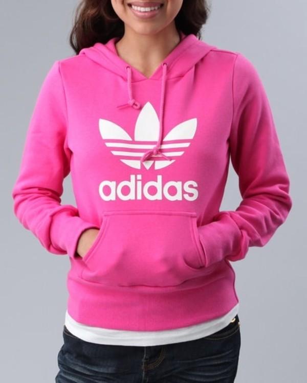 Adidas Originals Women's Trefoil Hoodie Hoody Sweatshirt Pink | eBay