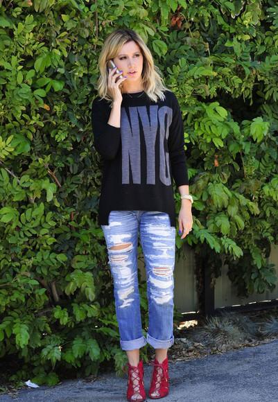 shoes ashley tisdale jeans shirt