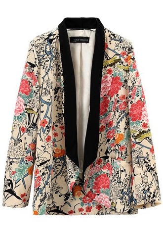 jacket floral floral print jacket blazer persunmall persunmall jacket