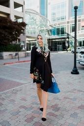 the red closet diary,blogger,dress,shoes,bag,make-up,fall outfits,handbag,blue bag,mini dress
