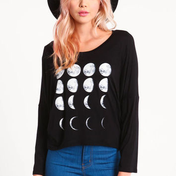 MOON PHASES DOLMAN TEE on Wanelo