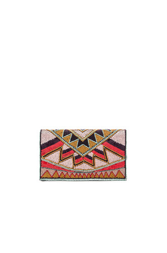 beaded clutch pink